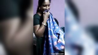 South Indian Aunty Undressing In Front Of Neighbour