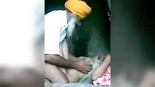 Punjabi village aunty Indian porn with father-in-law